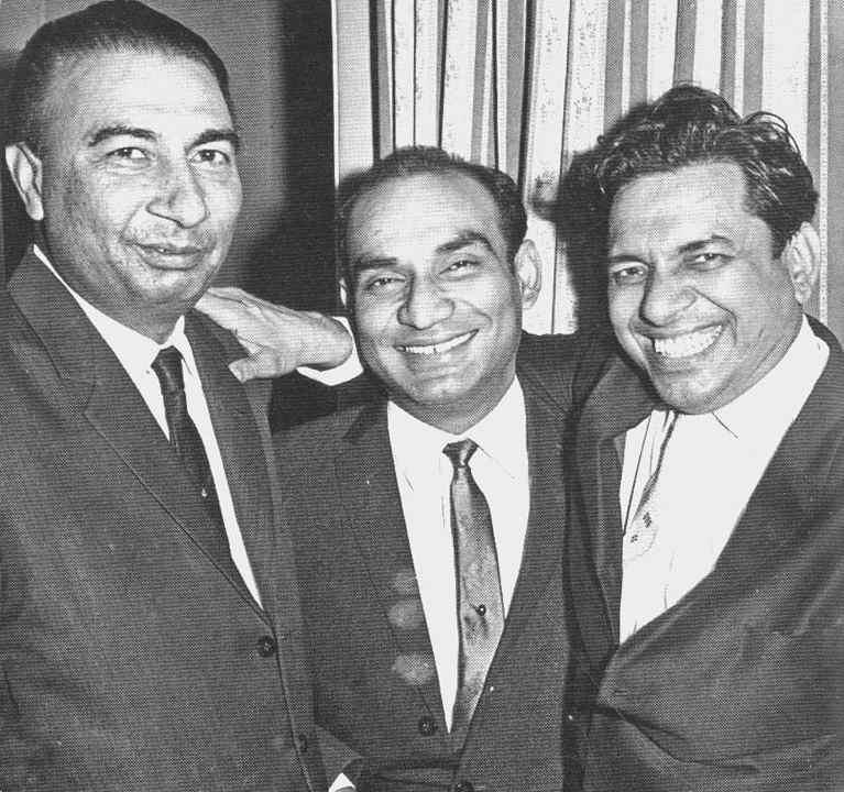 Music Director Ravi with Yash Chopra and Sahir