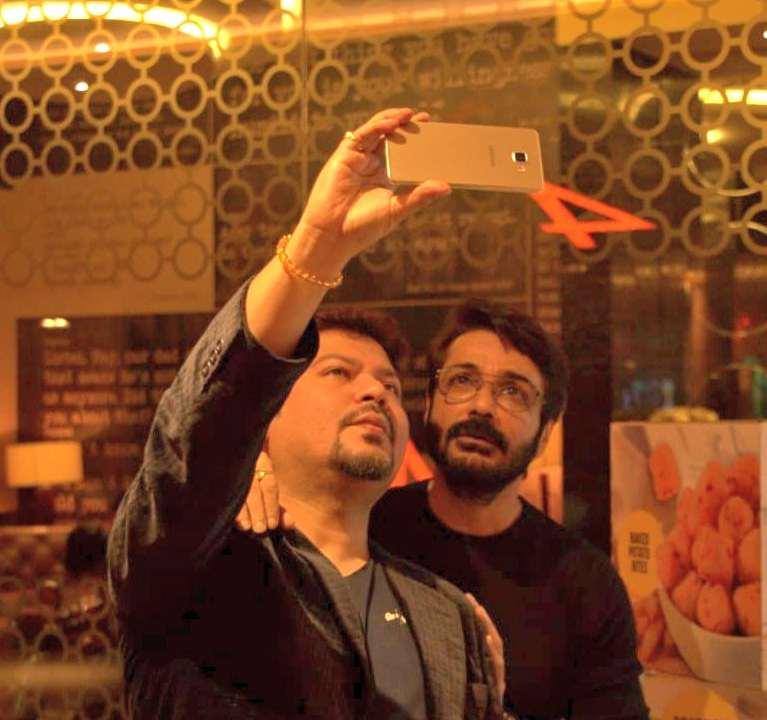 Producer Director Ram Kamal Mukherjee with Bengals Super star Prosenjit
