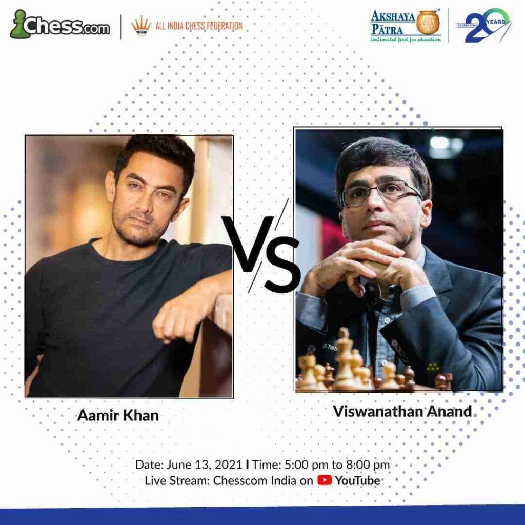 Aamir Khan Will Face Off Against Viswanathan Anand for Akshaya Patra