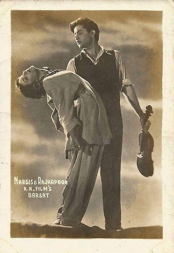 Raj Kapoor and Nargis in Barsaat